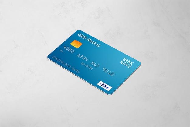 Maquete de cartão plástico