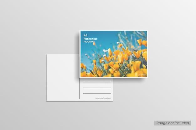 Maquete de cartão postal a6