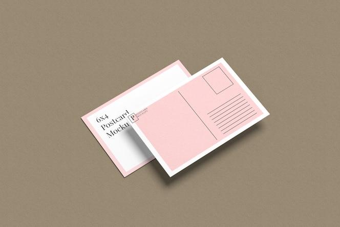 Maquete de cartão postal e convite 5