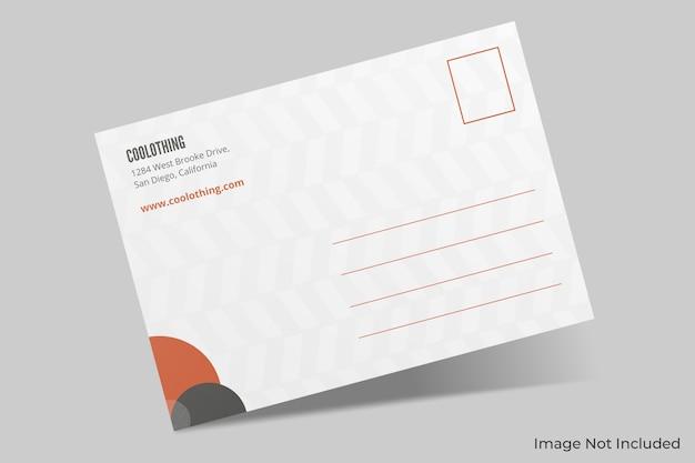 Maquete de cartão postal elegante