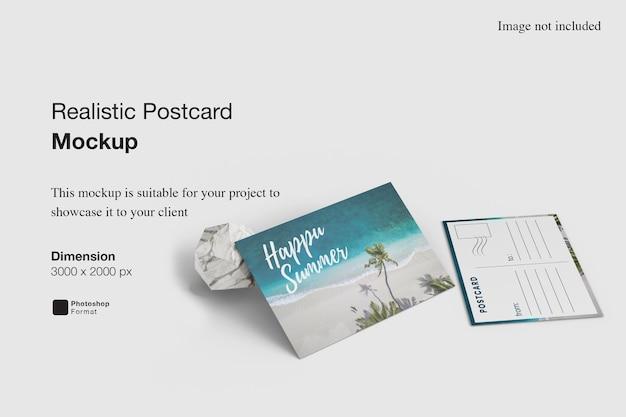Maquete de cartão postal realista