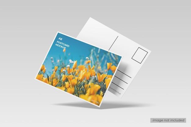 Maquete de cartão postal voador a6