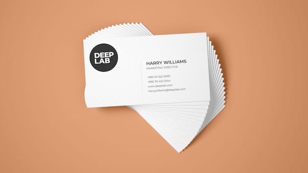 Maquete de cartão premium psd