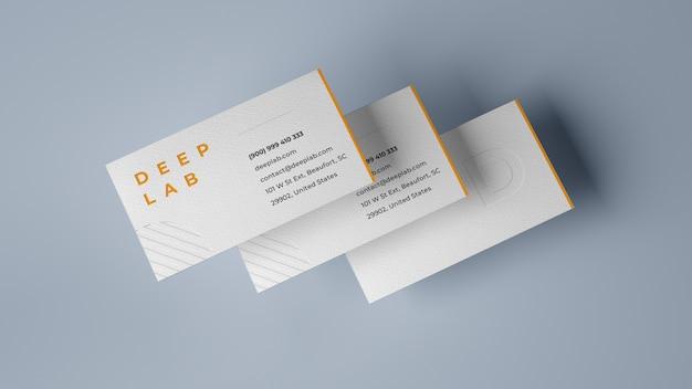 Maquete de cartão premium