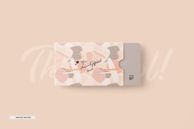 Maquete de cartão-presente com suporte de cartão