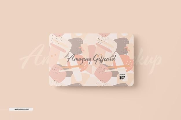 Maquete de cartão-presente