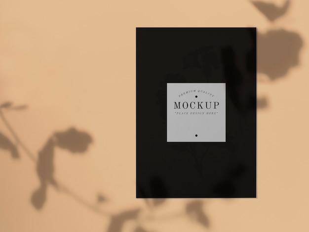 Maquete de cartão preto de qualidade premium