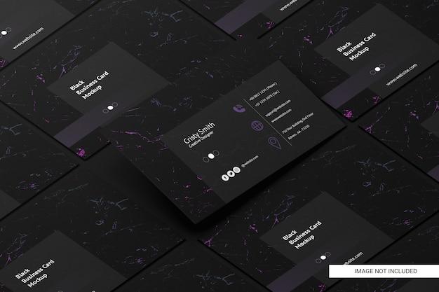 Maquete de cartão preto