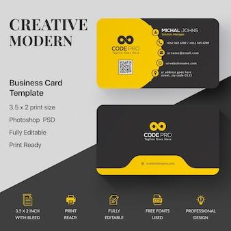 Maquete de cartão profissional