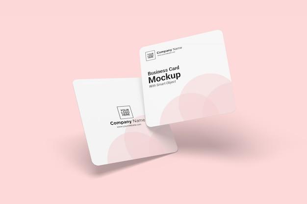Maquete de cartão quadrado arredondado