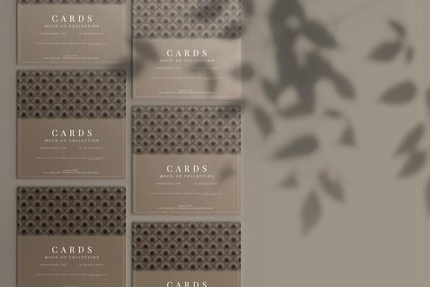 Maquete de cartão quadrado multiuso com cantos planos