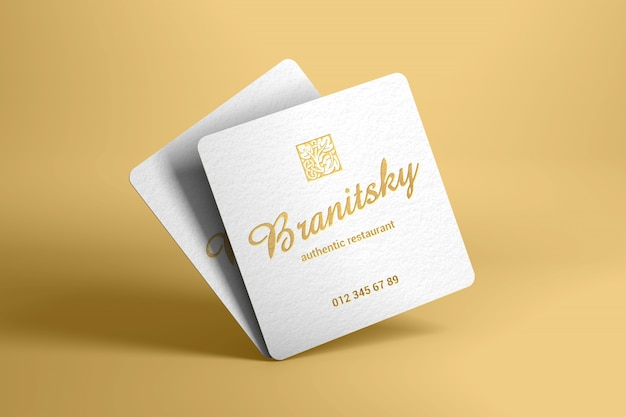 Maquete de cartão quadrado