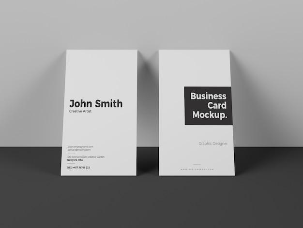 Maquete de cartão vertical moderno