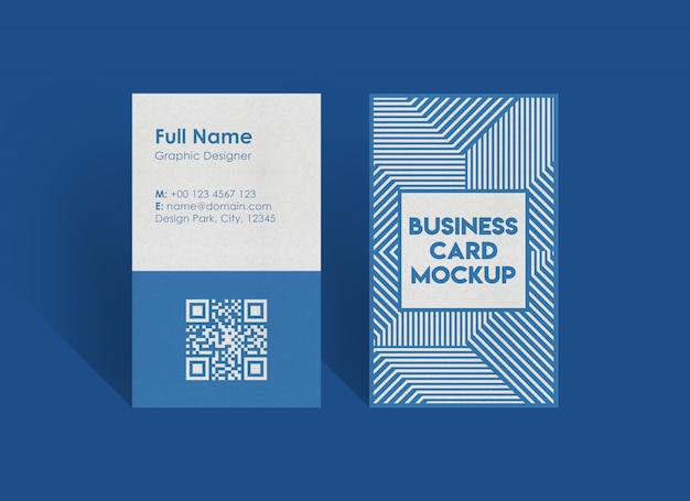 Maquete de cartão vertical