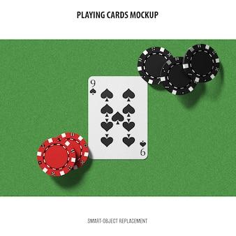 Maquete de cartas de jogar