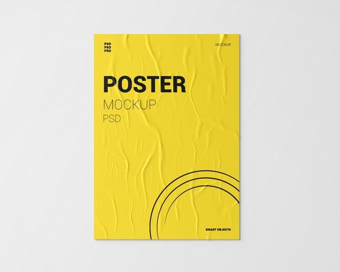 Maquete de cartaz amassado