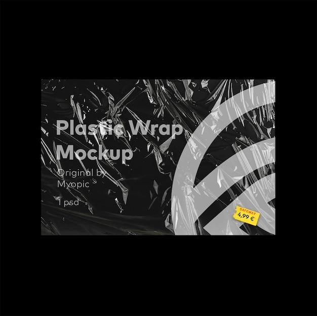 Maquete de cartaz de filme plástico