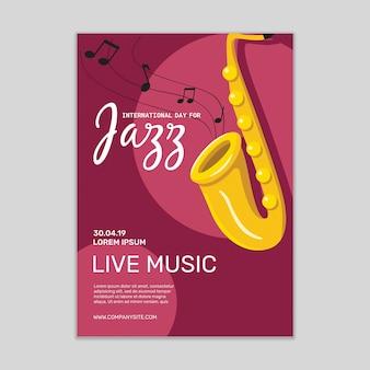 Maquete de cartaz de música jazz