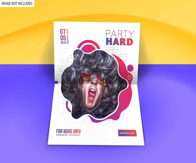Maquete de cartaz de panfleto