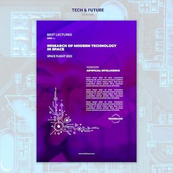 Maquete de cartaz de tecnologia e conceito futuro