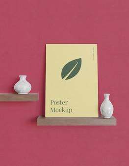 Maquete de cartaz minimalista