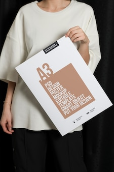 Maquete de cartaz moderno de tamanho a3