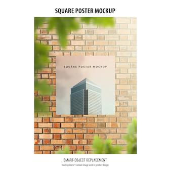 Maquete de cartaz quadrado