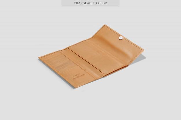 Maquete de carteira elegante