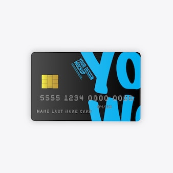 Maquete de cartões de crédito isolada