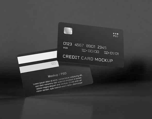 Maquete de cartões de crédito