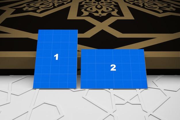 Maquete de cartões de visita árabe