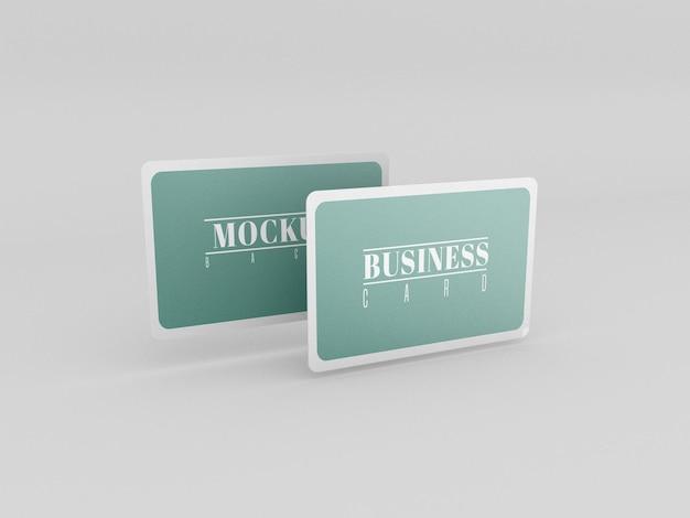Maquete de cartões de visita arredondados