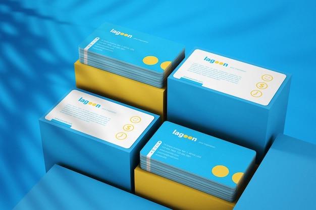 Maquete de cartões de visita de branding