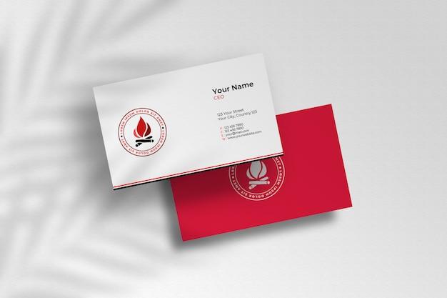 Maquete de cartões de visita de elegantes