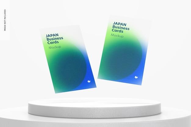 Maquete de cartões de visita de retrato do japão flutuante