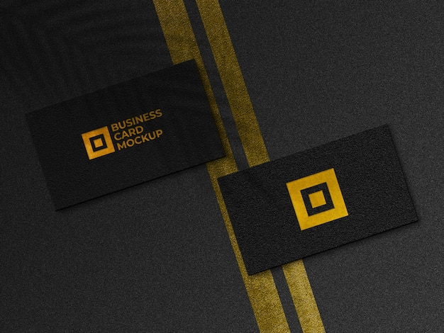 Maquete de cartões de visita dourados modernos