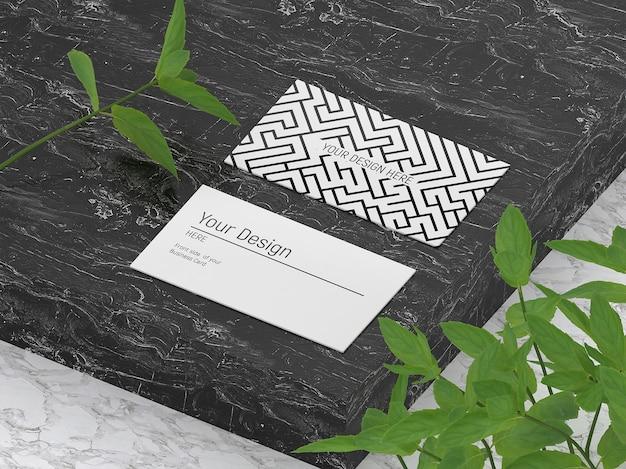 Maquete de cartões de visita elegantes isométricos