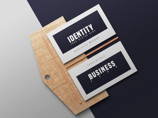 Maquete de cartões de visita elegantes