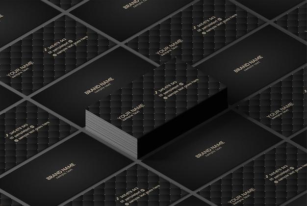 Maquete de cartões de visita isométricos de luxo