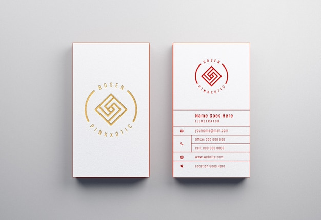 Maquete de cartões de visita modernos e luxuosos com efeito tipografia