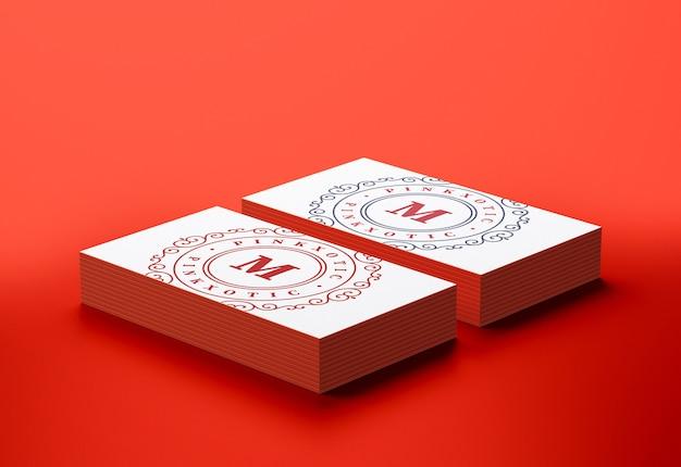 Maquete de cartões de visita modernos e mínimos