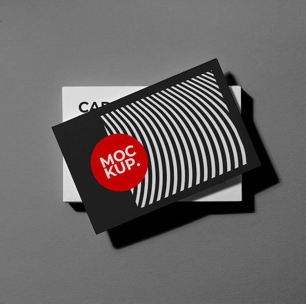 Maquete de cartões de visita padrão