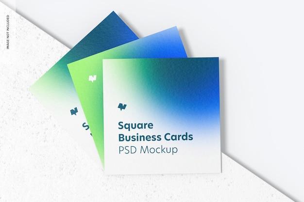 Maquete de cartões de visita quadrada