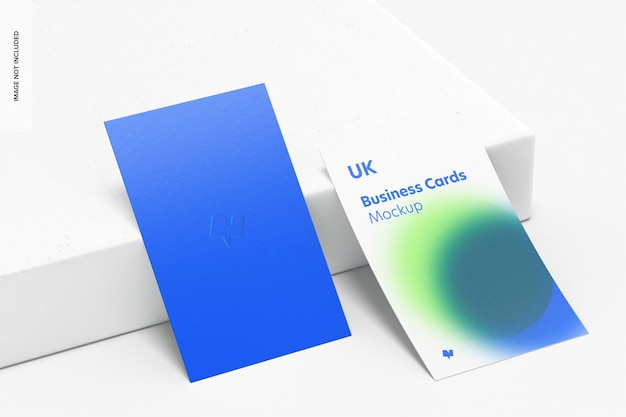 Maquete de cartões de visita verticais