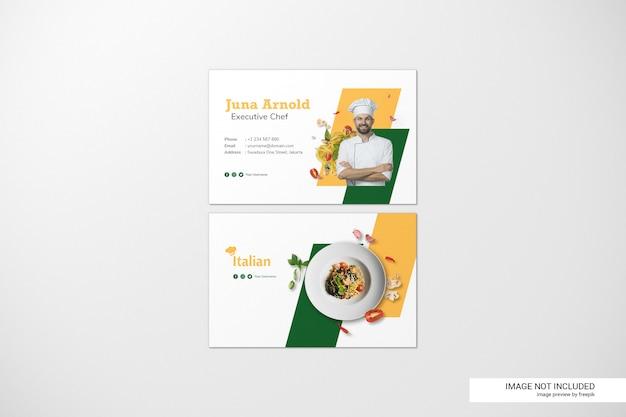 Maquete de cartões de visita