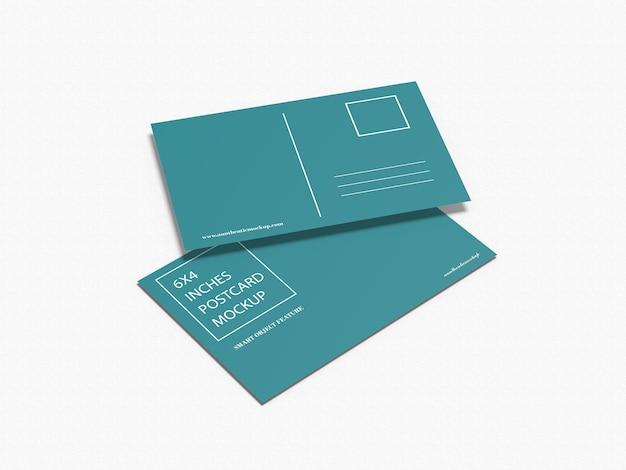 Maquete de cartões postais