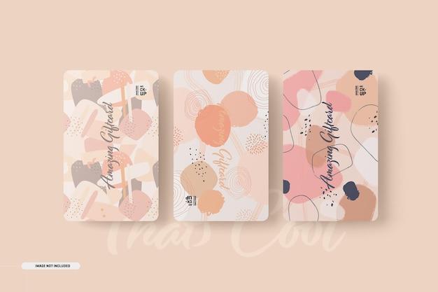 Maquete de cartões-presente