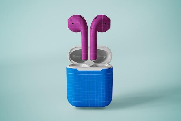 Maquete de caso de fone de ouvido