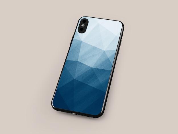 Maquete de caso de smartphone