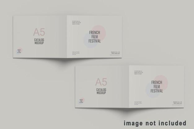 Maquete de catálogo de brochura de paisagem a5